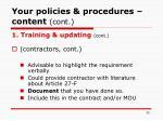 your policies procedures content cont35