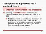 your policies procedures content cont37