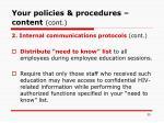 your policies procedures content cont39