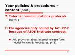 your policies procedures content cont40