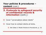 your policies procedures content cont42