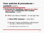 your policies procedures content cont47