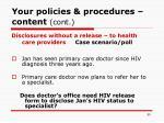 your policies procedures content cont50
