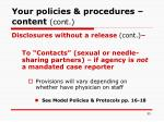 your policies procedures content cont55
