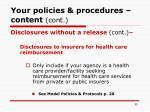 your policies procedures content cont59