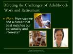 meeting the challenges of adulthood work and retirement