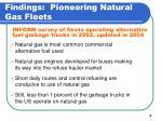 findings pioneering natural gas fleets