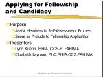 applying for fellowship and candidacy2
