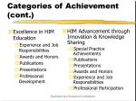 categories of achievement cont15