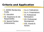 criteria and application17