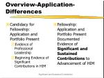 overview application differences