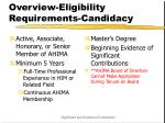 overview eligibility requirements candidacy