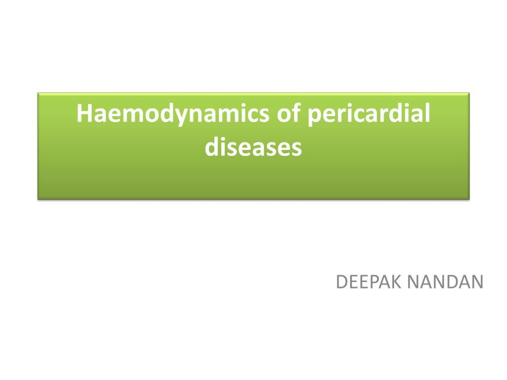 haemodynamics of pericardial diseases l.