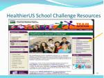 healthierus school challenge resources