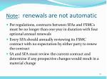 note renewals are not automatic