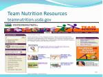 team nutrition resources teamnutrition usda gov
