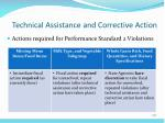 technical assistance and corrective action