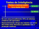 testes de intelig ncia
