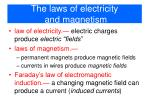 the laws of electricity and magnetism