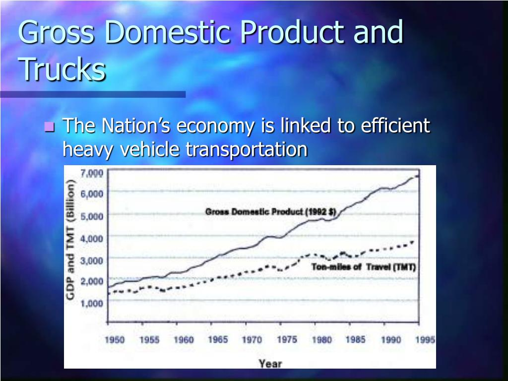 Gross Domestic Product and Trucks