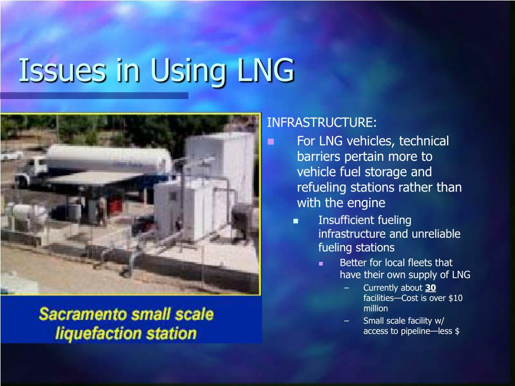 Issues in Using LNG