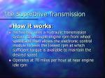 the superdrive transmission42