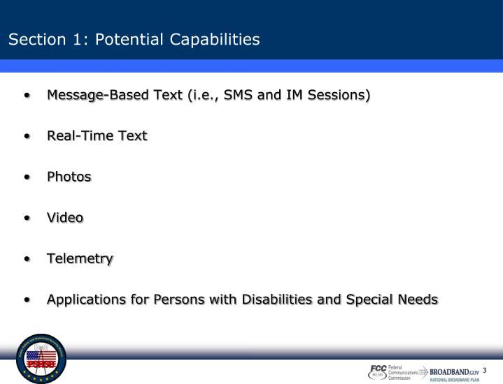 Section 1 potential capabilities
