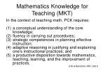 mathematics knowledge for teaching mkt
