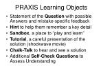 praxis learning objects