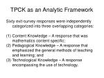 tpck as an analytic framework