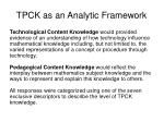 tpck as an analytic framework21