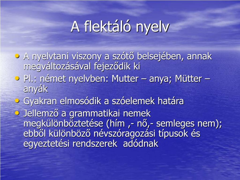 A flektáló nyelv