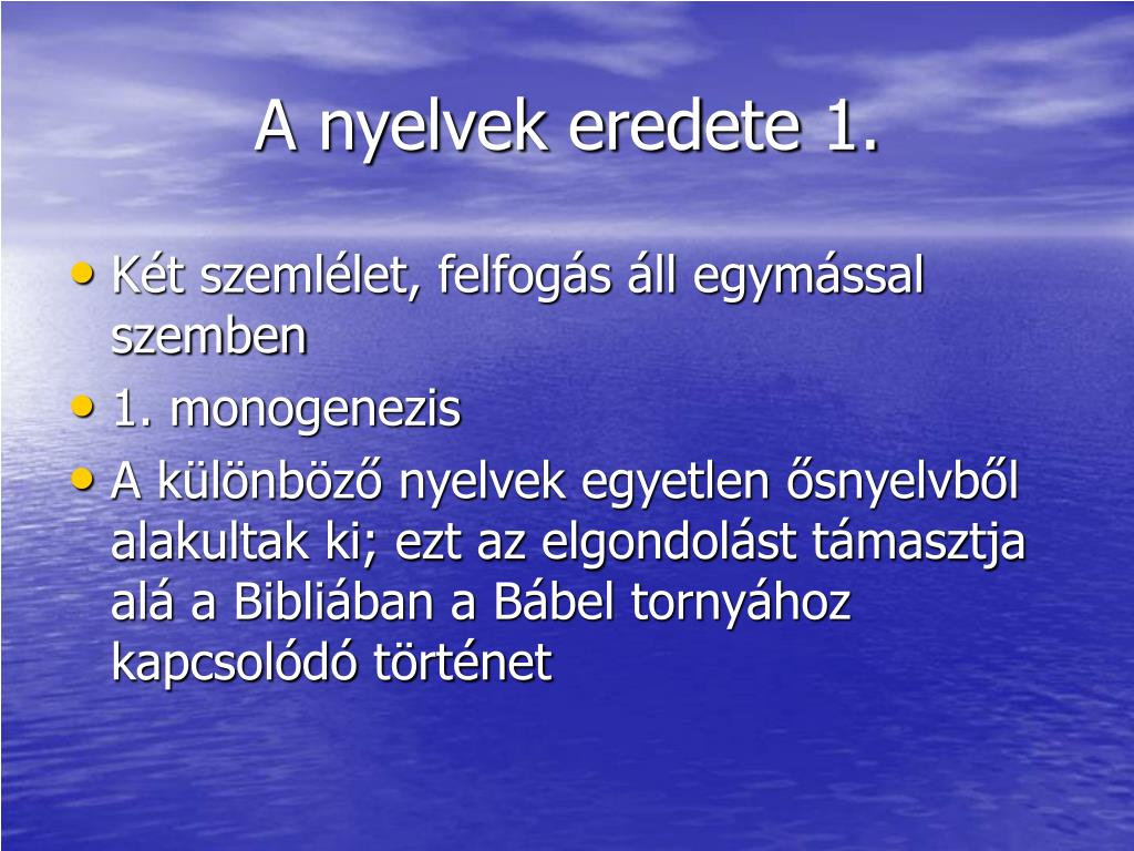 A nyelvek eredete 1.