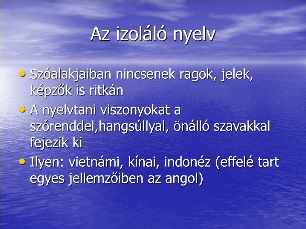 Az izoláló nyelv