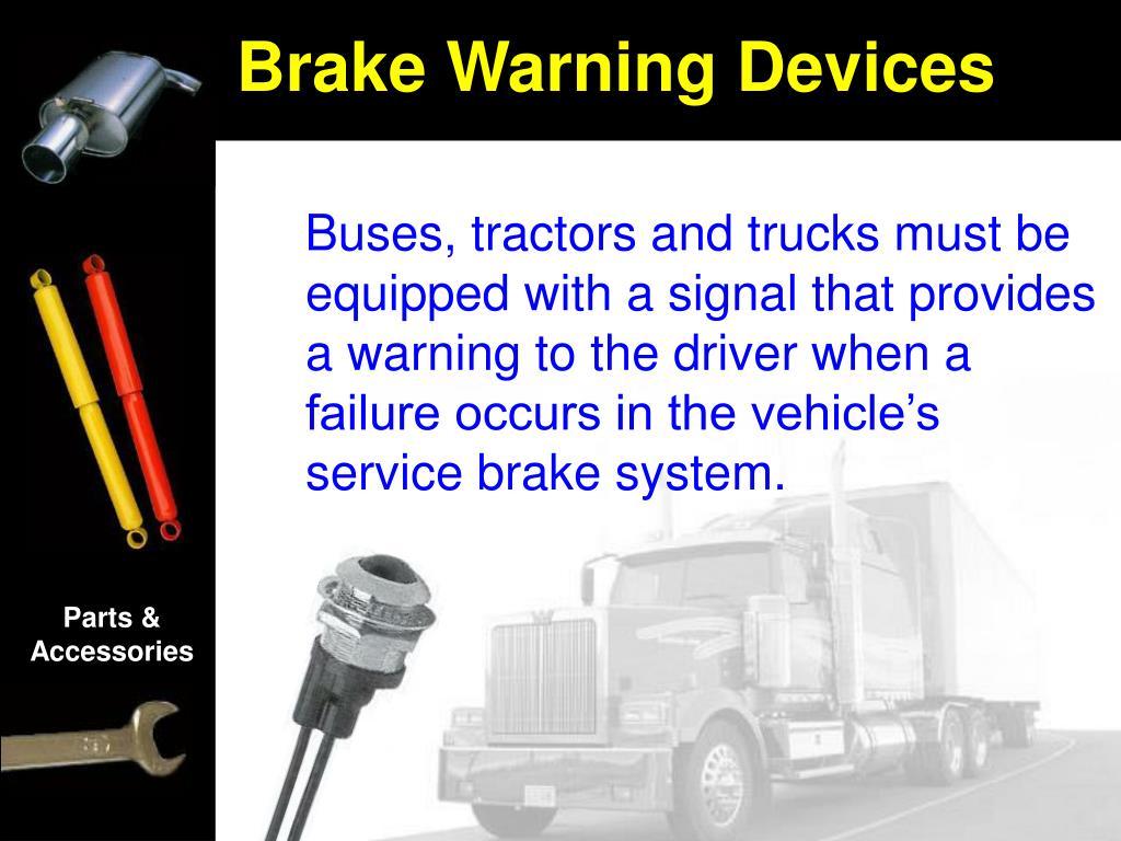 Brake Warning Devices