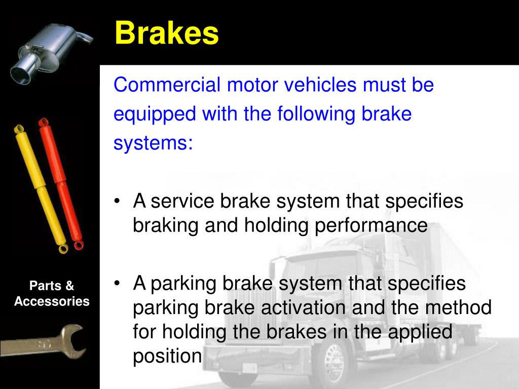 Commercial motor vehicles must be