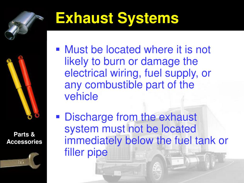 Must be located where it is not likely to burn or damage the electrical wiring, fuel supply, or any combustible part of the vehicle