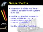 sleeper berths