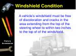 windshield condition