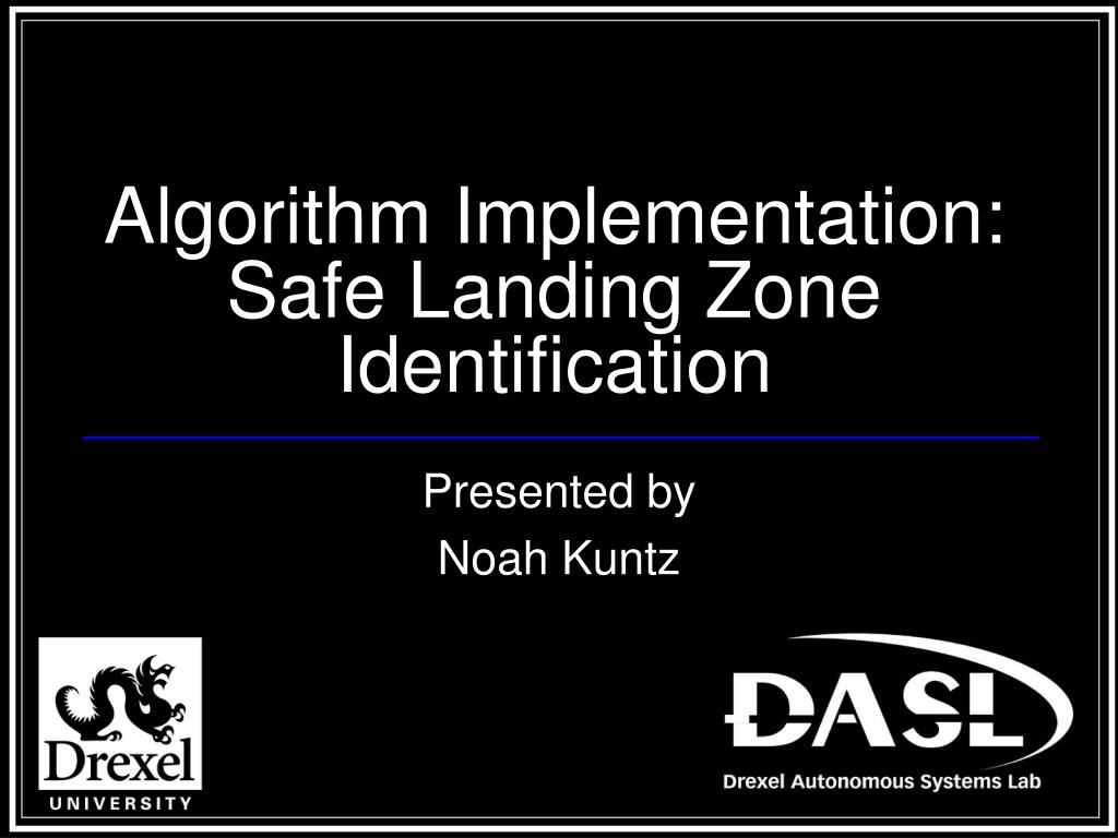 algorithm implementation safe landing zone identification l.