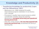 knowledge and productivity 2