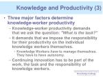 knowledge and productivity 3