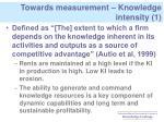 towards measurement knowledge intensity 1