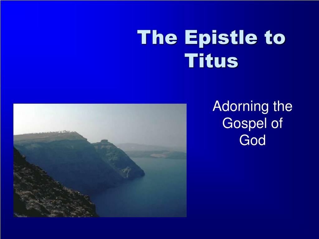 the epistle to titus l.