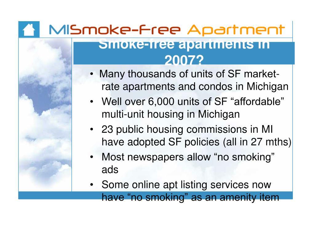 Smoke-free apartments in 2007?