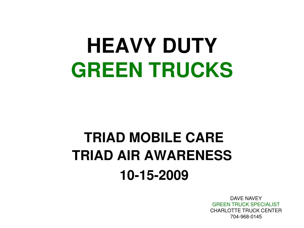 heavy duty green trucks l.