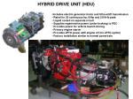 hybrid drive unit hdu