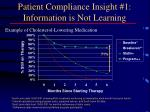 patient compliance insight 1 information is not learning