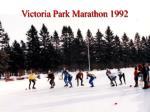 victoria park marathon 1992