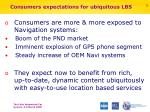 consumers expectations for ubiquitous lbs